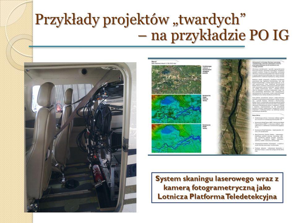 """Przykłady projektów """"twardych"""" – na przykładzie PO IG System skaningu laserowego wraz z kamerą fotogrametryczną jako Lotnicza Platforma Teledetekcyjna"""