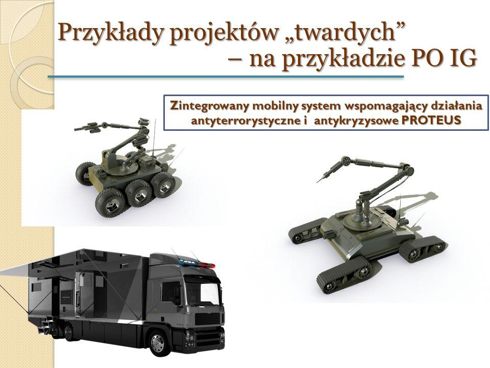 """Przykłady projektów """"twardych"""" – na przykładzie PO IG Zintegrowany mobilny system wspomagający działania antyterrorystyczne i antykryzysowe PROTEUS"""