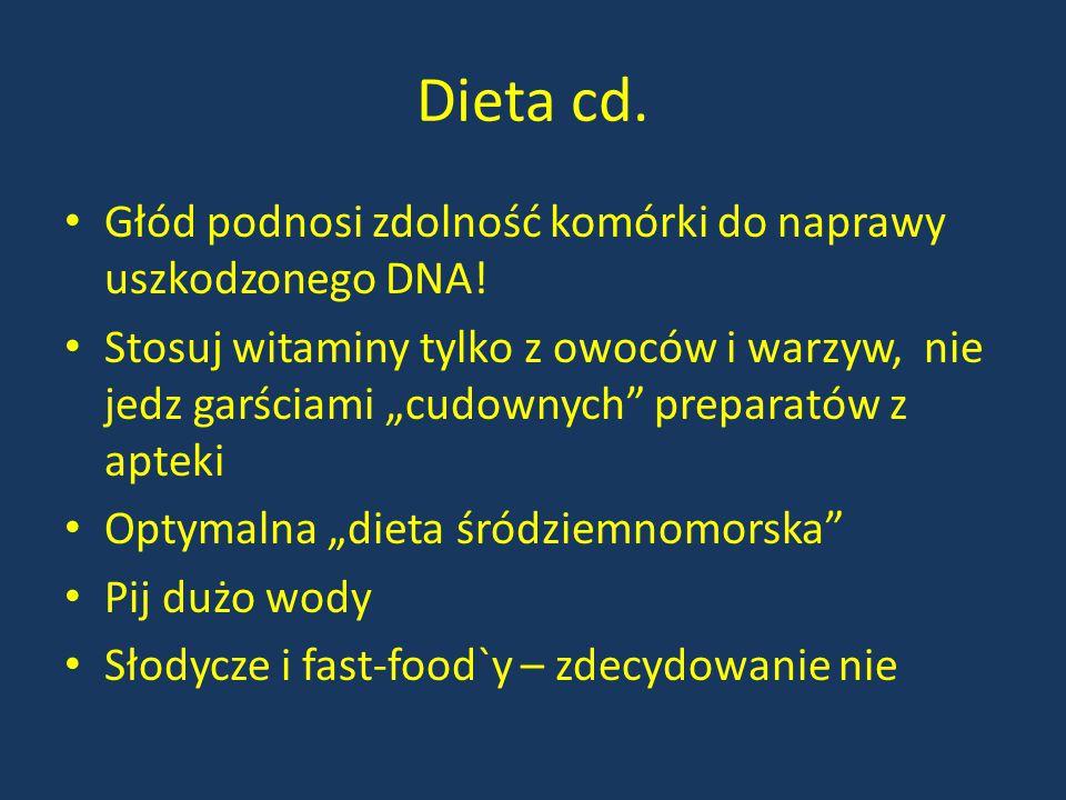 """Dieta cd. Głód podnosi zdolność komórki do naprawy uszkodzonego DNA! Stosuj witaminy tylko z owoców i warzyw, nie jedz garściami """"cudownych"""" preparató"""