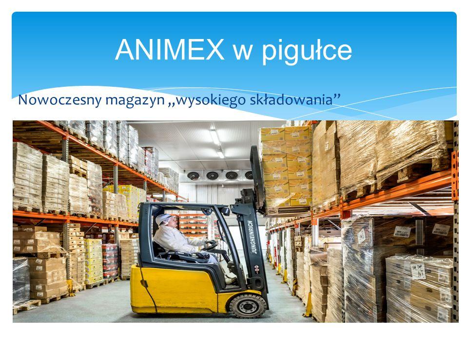 """ANIMEX w pigułce Nowoczesny magazyn """"wysokiego składowania"""""""
