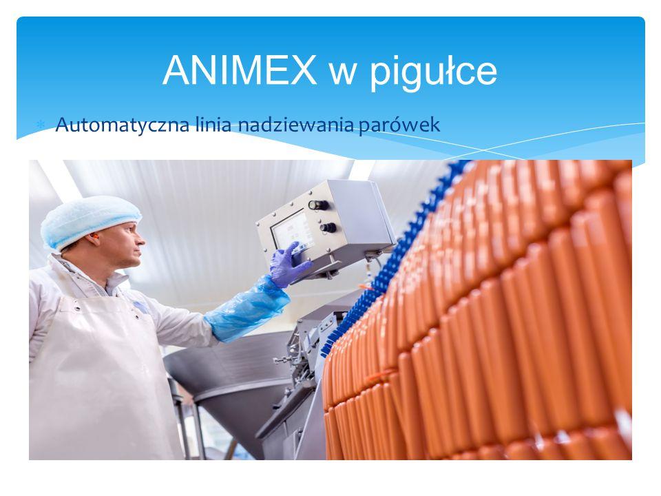 ANIMEX w pigułce  Automatyczna linia nadziewania parówek