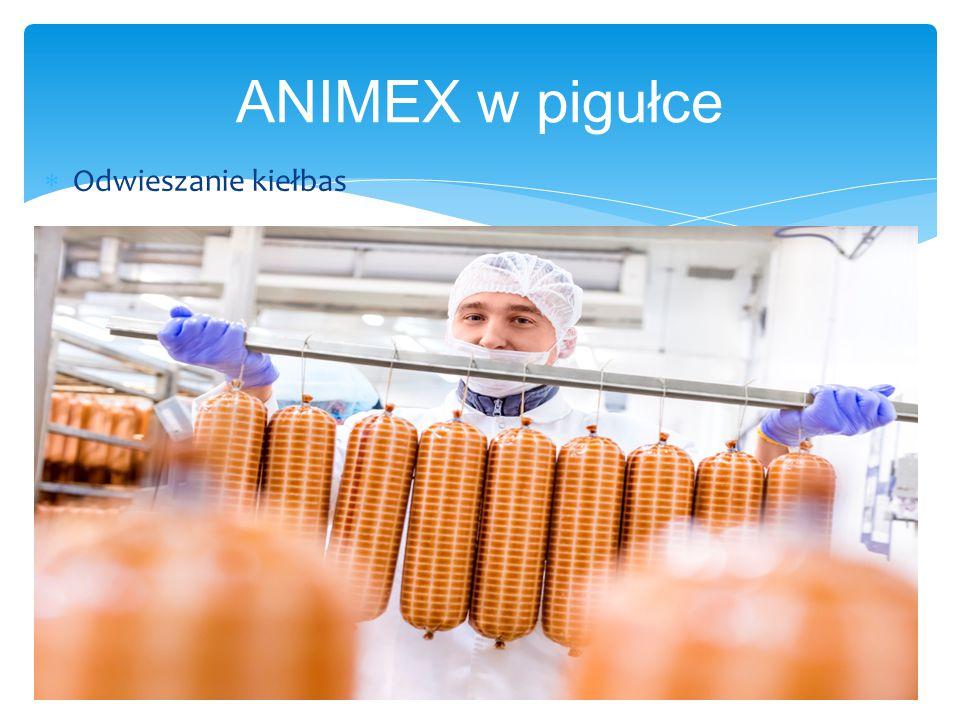 ANIMEX w pigułce  Odwieszanie kiełbas