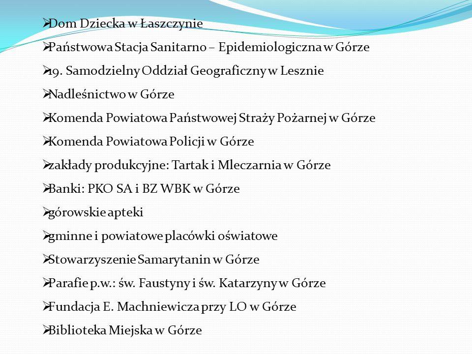  Dom Dziecka w Łaszczynie  Państwowa Stacja Sanitarno – Epidemiologiczna w Górze  19.
