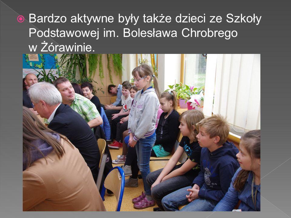  Bardzo aktywne były także dzieci ze Szkoły Podstawowej im. Bolesława Chrobrego w Żórawinie.