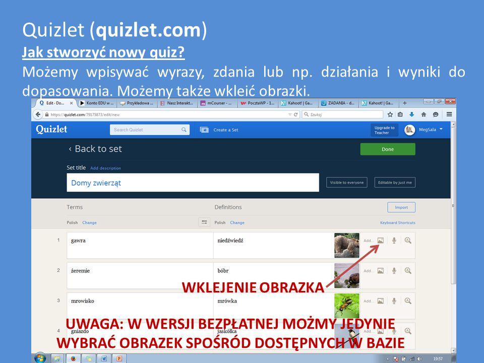 Quizlet (quizlet.com) Jak ustawić, kto będzie mógł oglądać mój quiz.