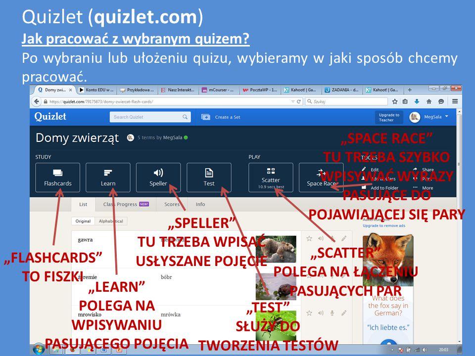 Quizlet (quizlet.com) Flashcards to karteczki z pojęciami, wyrazami lub zagadkami, które na odwrocie mają wyjaśnienia.