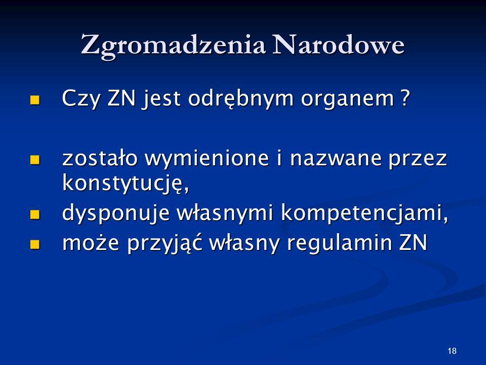 17 Polska Sejm RP Sejm RP Senat RP Senat RP Zgromadzenie Narodowe Zgromadzenie Narodowe (art. 114 Konstytucji RP)