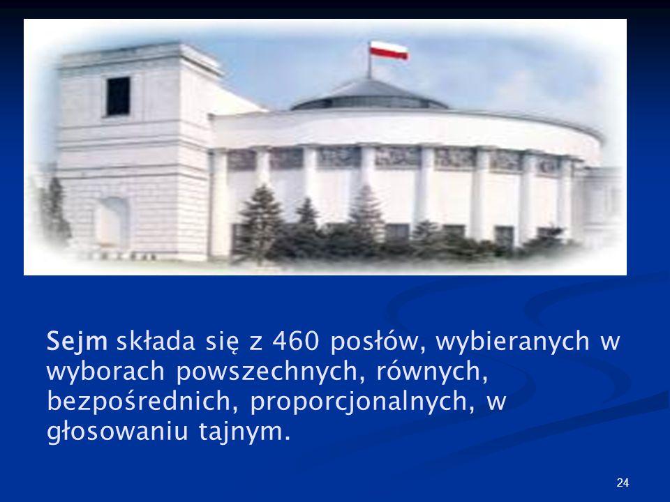 23 Przedłużenie kadencji ● Przedłużenie kadencji obu izb byłoby możliwe wyłącznie w drodze zmiany konstytucji ● Jedynym wyjątkiem jest przedłużenie ka