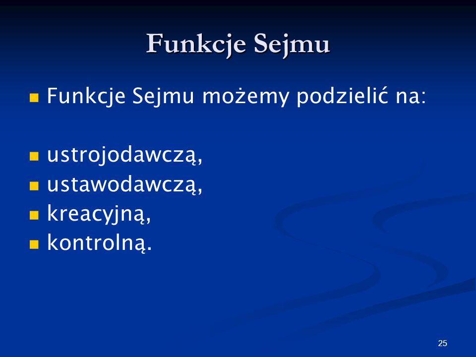 24 Sejm składa się z 460 posłów, wybieranych w wyborach powszechnych, równych, bezpośrednich, proporcjonalnych, w głosowaniu tajnym.