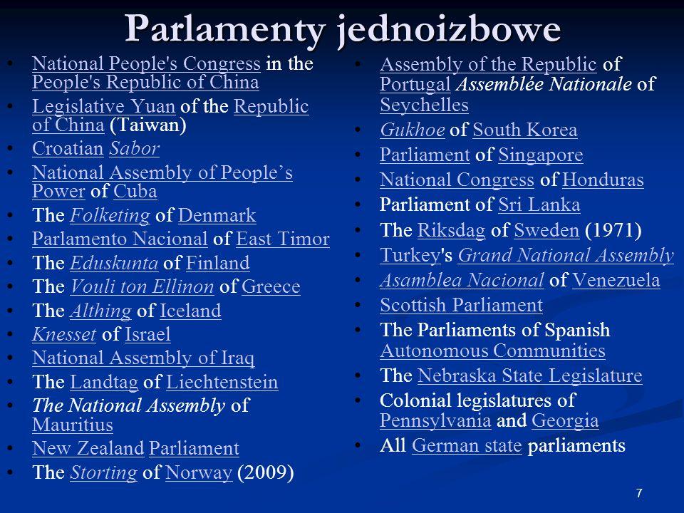 27 Funkcja ustawodawcza Funkcja ustawodawcza jest najważniejszą kompetencją organu przedstawicielskiego, jakim jest Sejm.