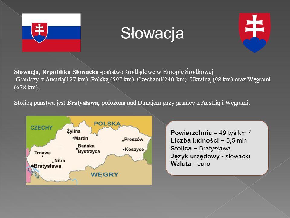 Słowacja, Republika Słowacka -państwo śródlądowe w Europie Środkowej.