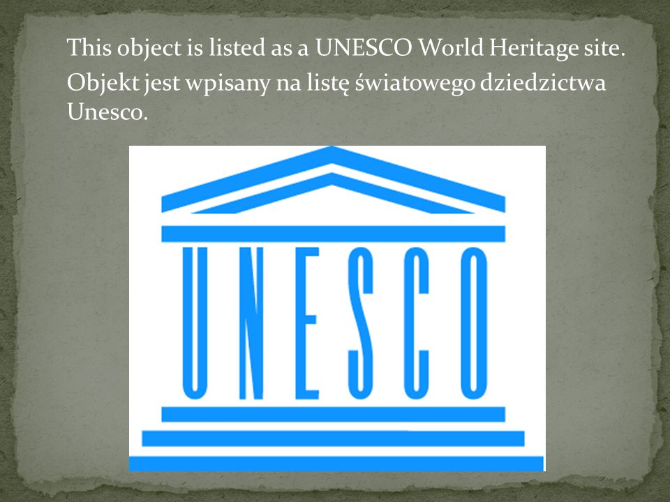 This object is listed as a UNESCO World Heritage site.