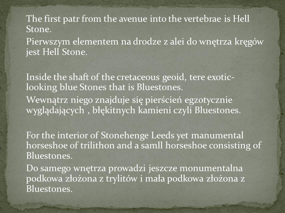 In the center of Stonehenge is Altar Stone.W samym centrum Sotnehenge znajduje się Altar Stone.