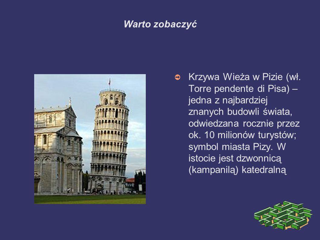 Warto zobaczyć ➲ Krzywa Wieża w Pizie (wł.