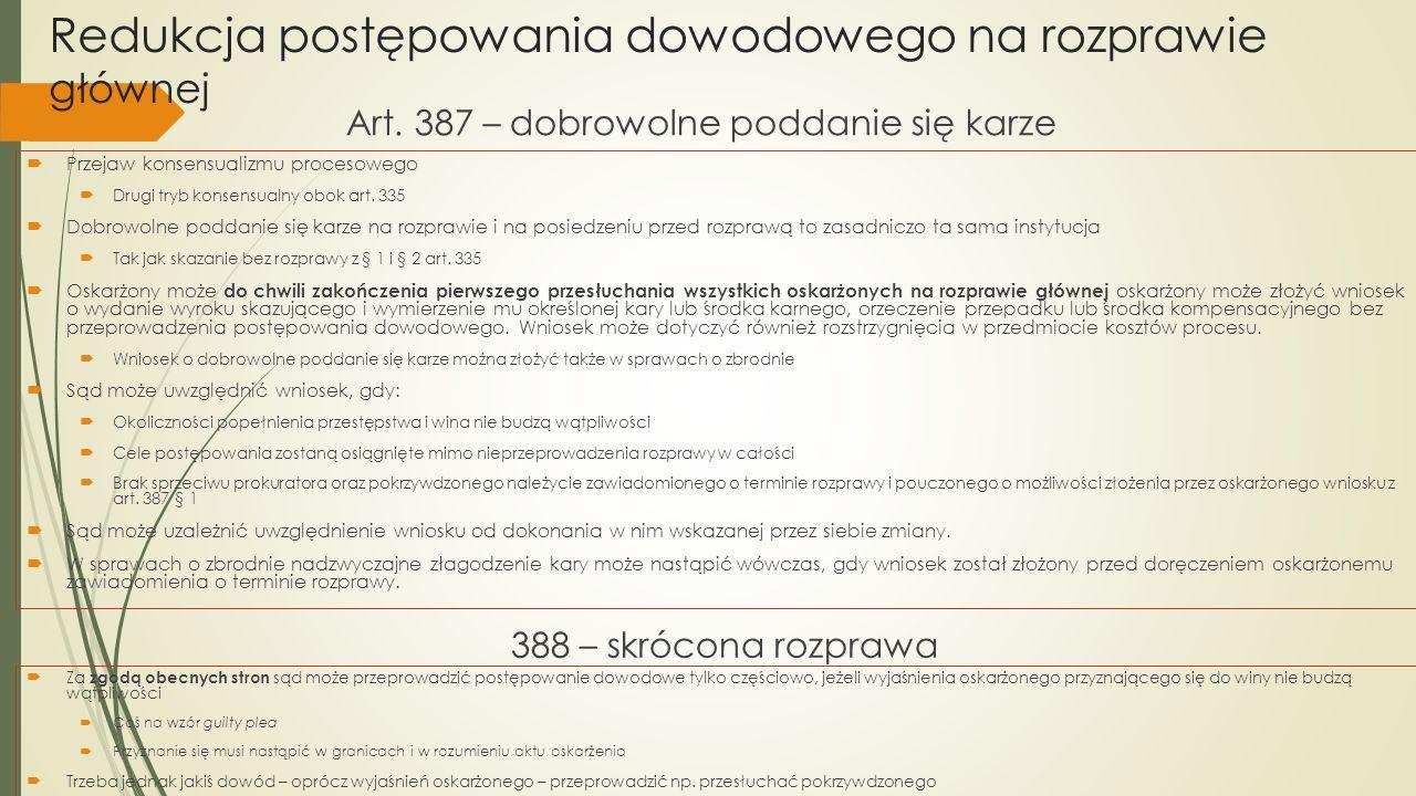 Zmiana kwalifikacji prawnej czynu i proces wpadkowy Art.