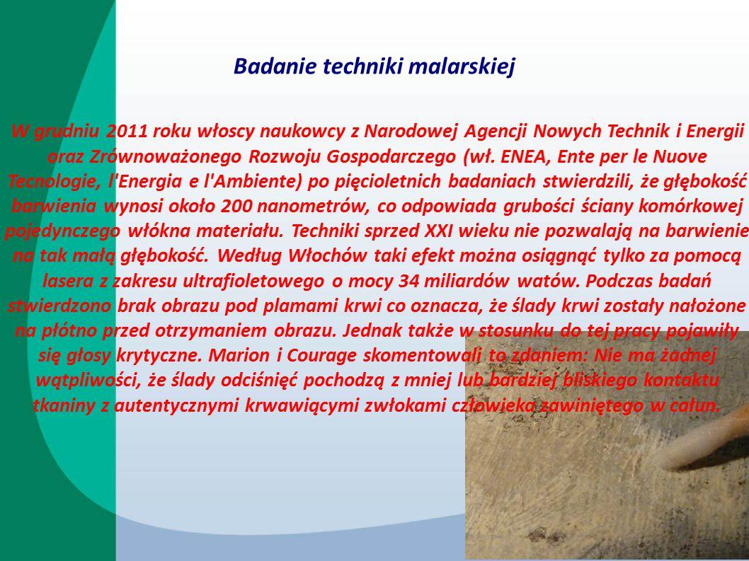 Badania techniki tkackiej W 2002 roku, po badaniach przeprowadzonych przy okazji konserwacji całunu, niemiecki konserwator Mechthild Flury-Lemberg wyraziła opinię, że splot tkaniny jest identyczny ze splotem stosowanym w całunach pogrzebowych odnajdywanych w żydowskich grobach w Masadzie datowanych od 40 roku p.n.e.