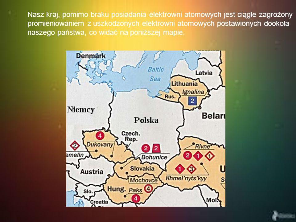 Nasz kraj, pomimo braku posiadania elektrowni atomowych jest ciągle zagrożony promieniowaniem z uszkodzonych elektrowni atomowych postawionych dookoła