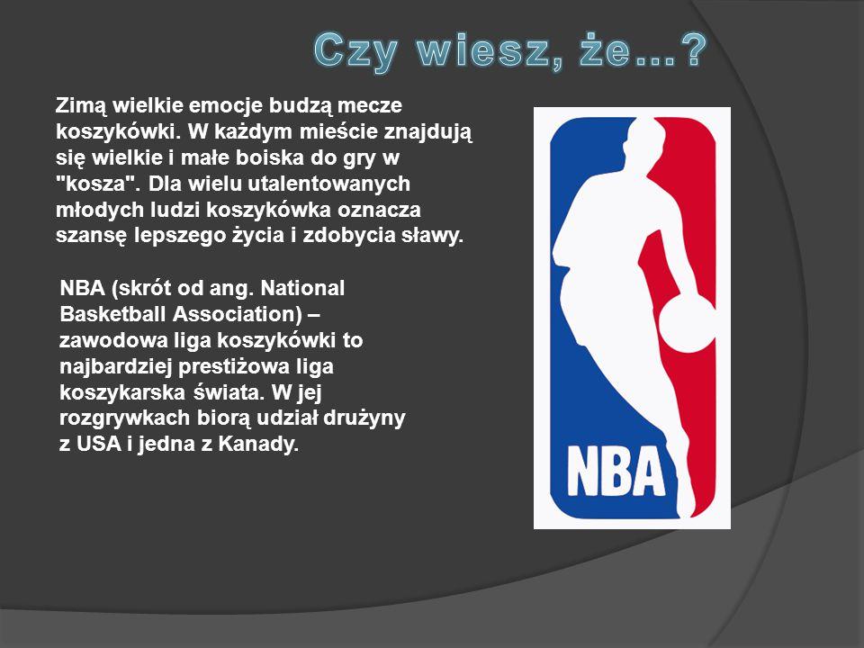 NBA (skrót od ang. National Basketball Association) – zawodowa liga koszykówki to najbardziej prestiżowa liga koszykarska świata. W jej rozgrywkach bi