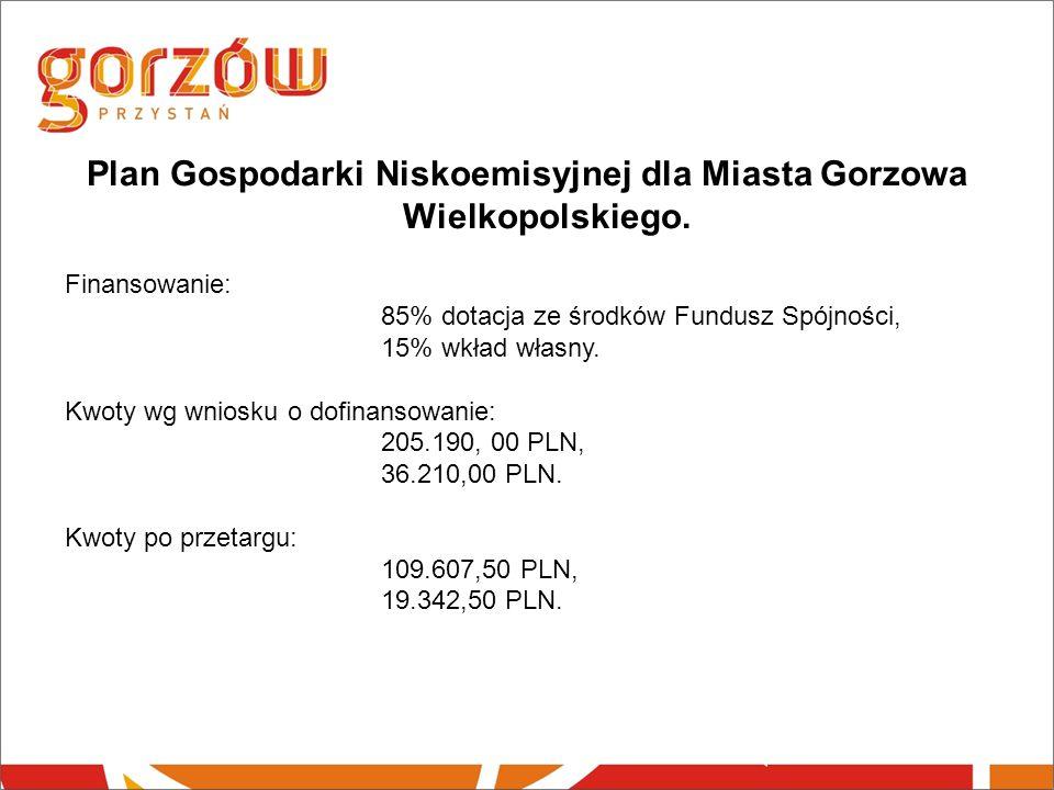 Plan Gospodarki Niskoemisyjnej dla Miasta Gorzowa Wielkopolskiego.