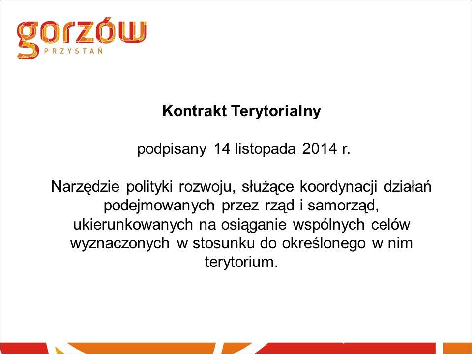 Kontrakt Terytorialny podpisany 14 listopada 2014 r.