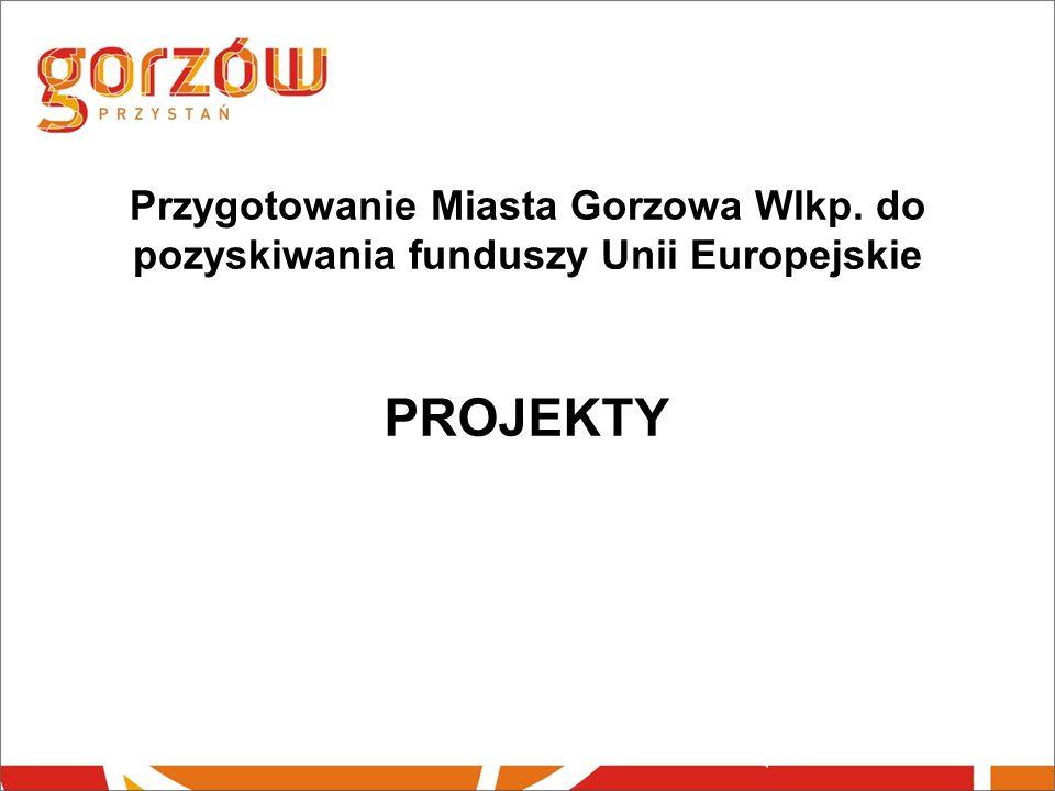 Przygotowanie Miasta Gorzowa Wlkp. do pozyskiwania funduszy Unii Europejskie PROJEKTY