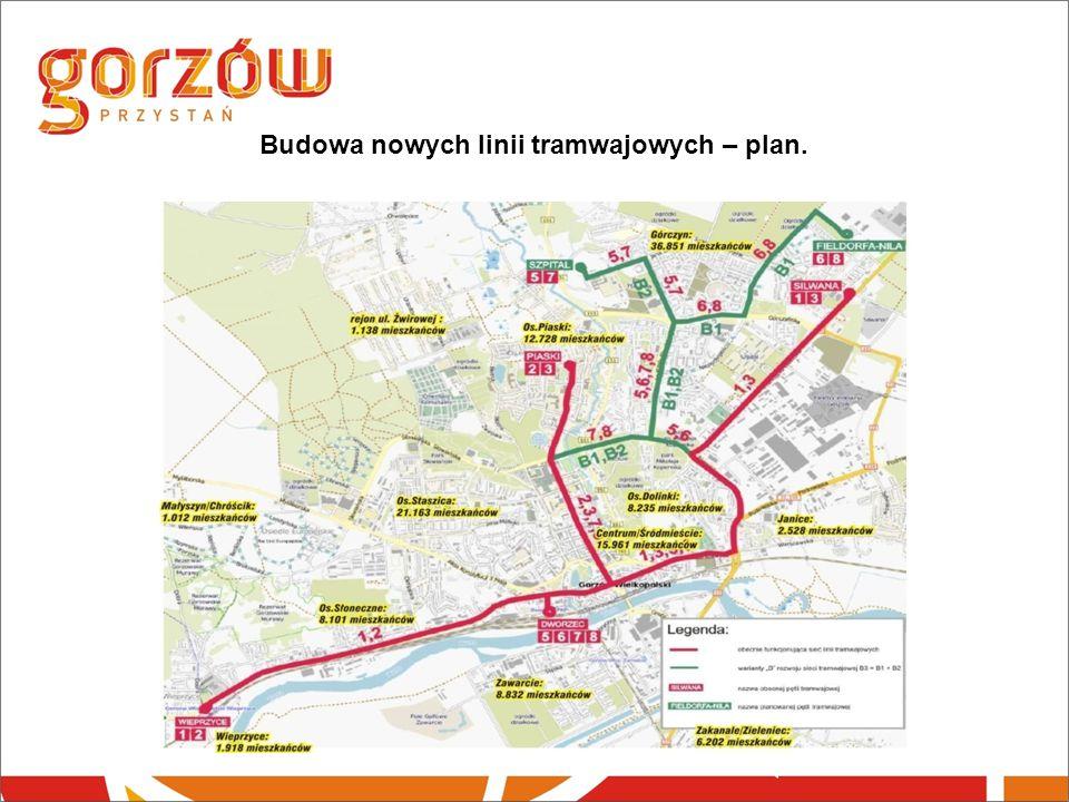 Budowa nowych linii tramwajowych – plan.