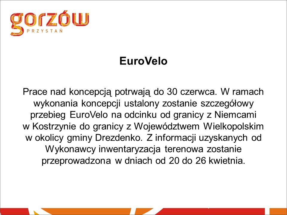 EuroVelo Prace nad koncepcją potrwają do 30 czerwca.