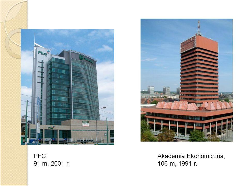 Akademia Ekonomiczna, 106 m, 1991 r. PFC, 91 m, 2001 r.