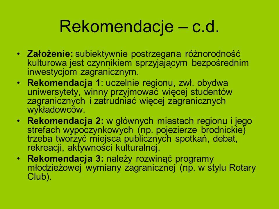 Rekomendacje – c.d.