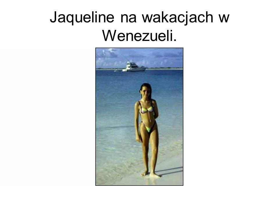 Jaqueline na wakacjach w Wenezueli.