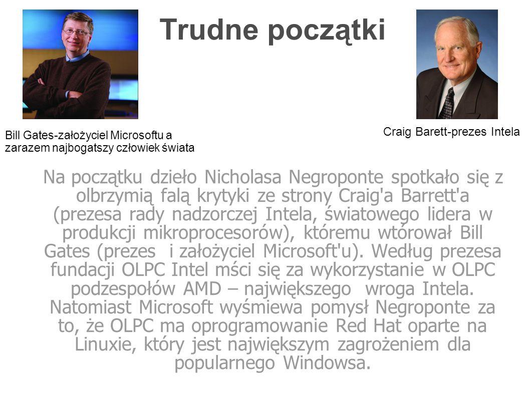 OLPC Dziełem Nicholasa Negroponte oraz jego zespołu po długim planowaniu, dot.
