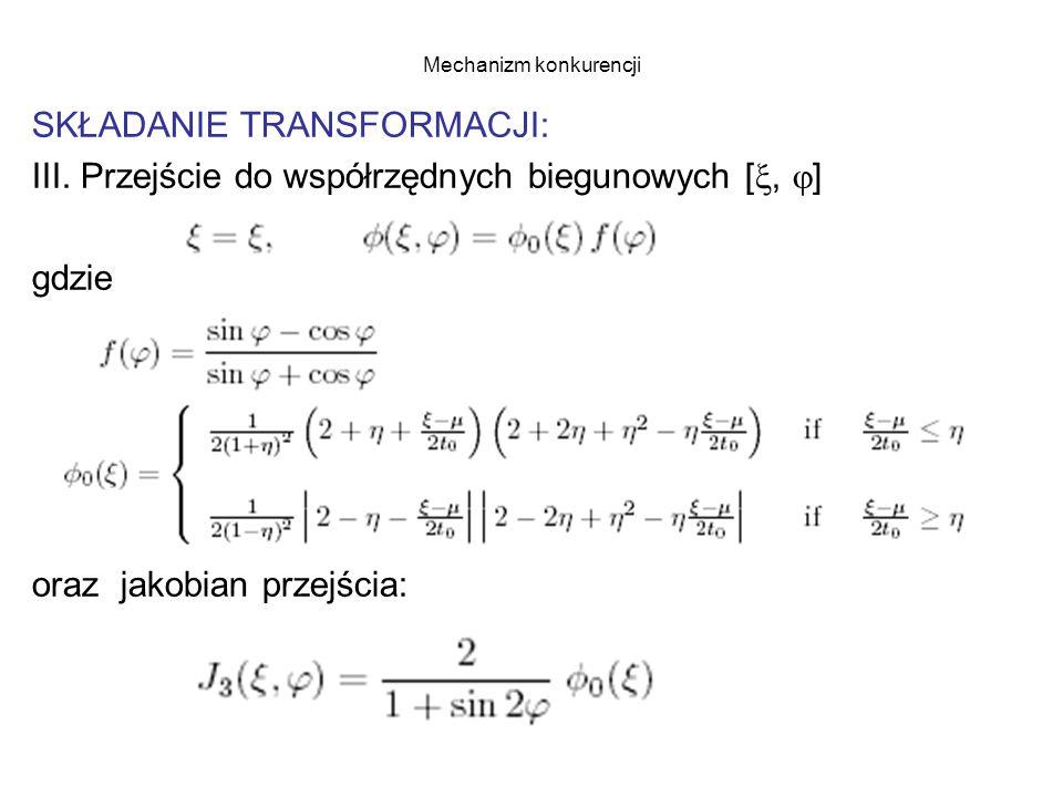Mechanizm konkurencji SKŁADANIE TRANSFORMACJI: III.