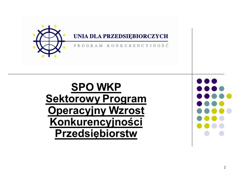 2 SPO WKP Sektorowy Program Operacyjny Wzrost Konkurencyjności Przedsiębiorstw