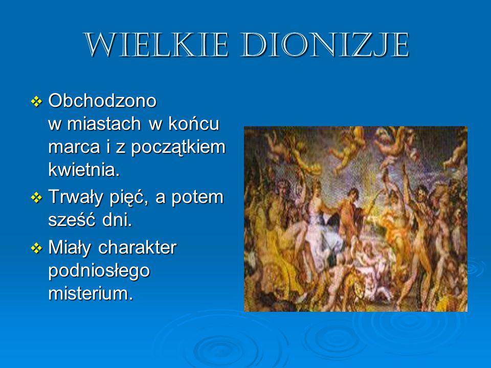 Jak świętowano Dionizje.