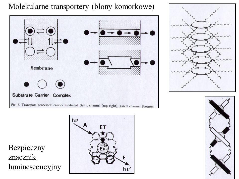 Bezpieczny znacznik luminescencyjny Molekularne transportery (blony komorkowe)