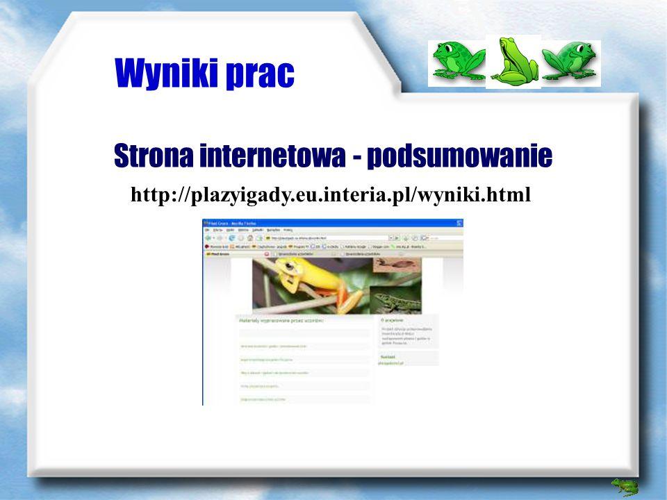 Wyniki prac Zdjęcia http://plazyigady.fotosik.pl/albumy/434932.html