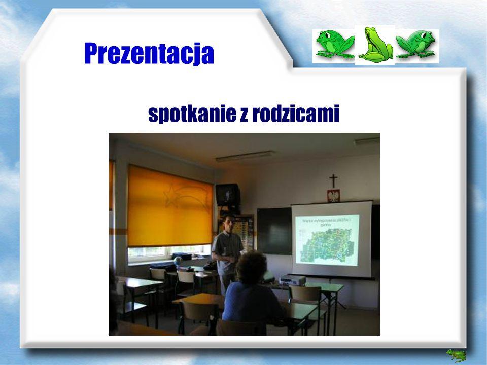 Prezentacja Formy prezentacji: - spotkanie z rodzicami uczniów i zaprezentowanie plakatu, opracowań książkowych wykonanych przez uczniów, prezentacji