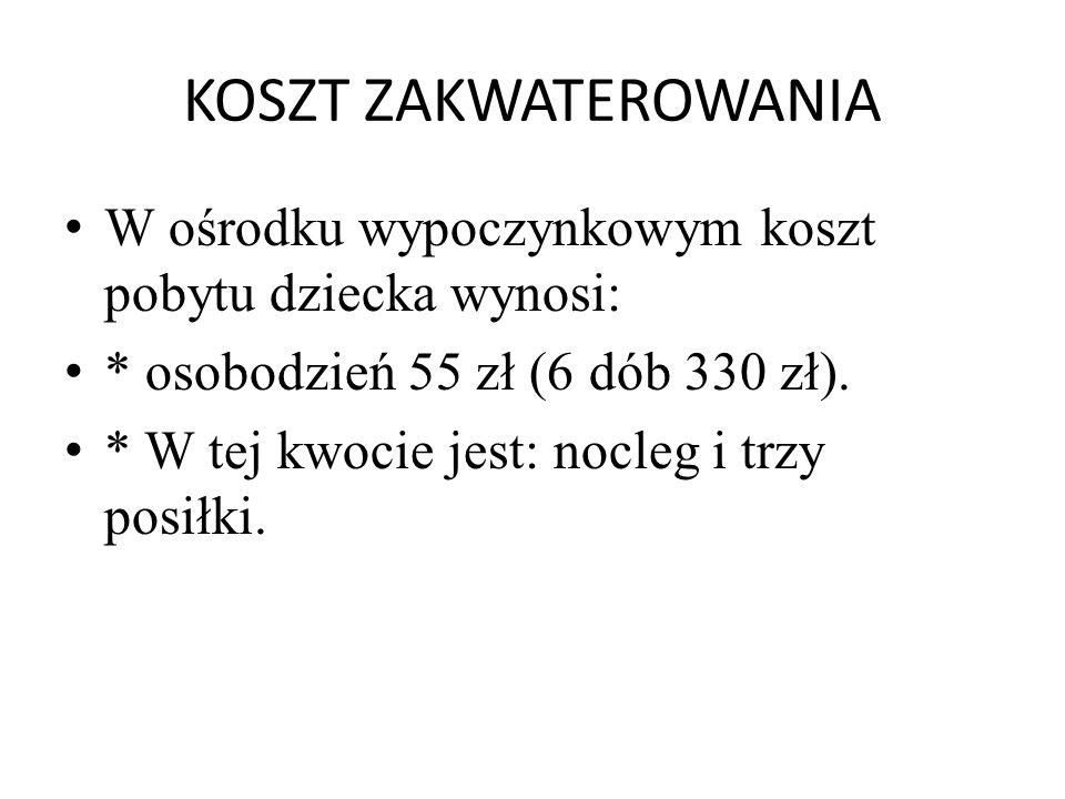 CAŁOŚCIOWY KOSZT UCZESTNICTWA Pobyt na obozie zimowym w Wiśle wynosi na jednego uczestnika 583 zł.