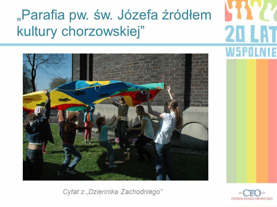 Imprezy kulturalne w Chorzowie wczoraj i dziś: Święto Miasta – Obchody święta miasta odbywają się zawsze na początku czerwca, są związane z rocznicą przybycia Bożogrobców do Chorzowa.