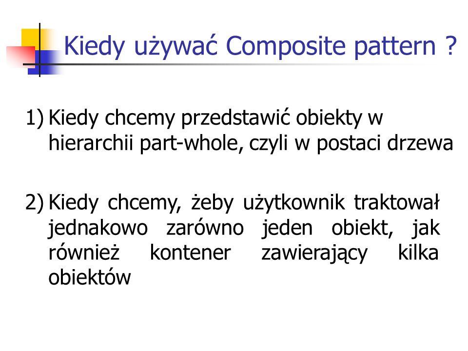 Kiedy używać Composite pattern .