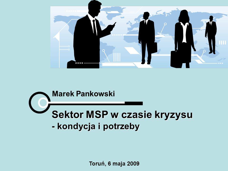 Marek Pankowski Sektor MSP w czasie kryzysu - kondycja i potrzeby Toruń, 6 maja 2009