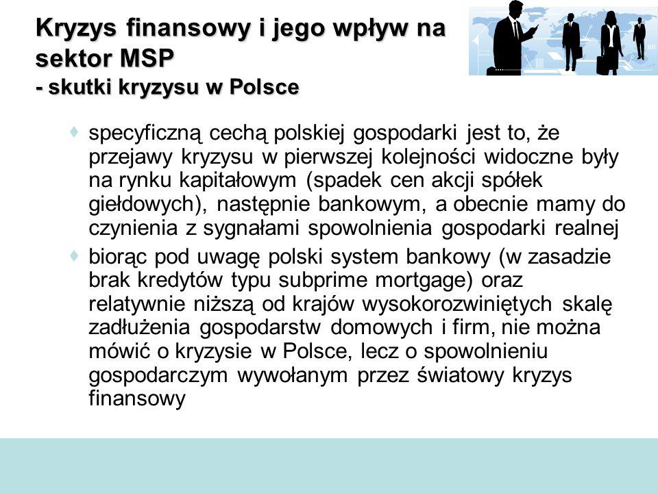  specyficzną cechą polskiej gospodarki jest to, że przejawy kryzysu w pierwszej kolejności widoczne były na rynku kapitałowym (spadek cen akcji spółe