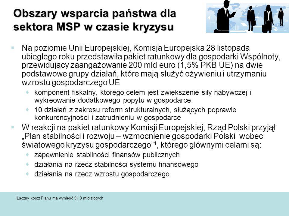  Na poziomie Unii Europejskiej, Komisja Europejska 28 listopada ubiegłego roku przedstawiła pakiet ratunkowy dla gospodarki Wspólnoty, przewidujący z