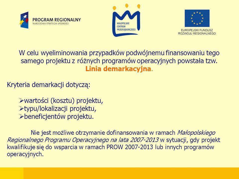 W celu wyeliminowania przypadków podwójnemu finansowaniu tego samego projektu z różnych programów operacyjnych powstała tzw.
