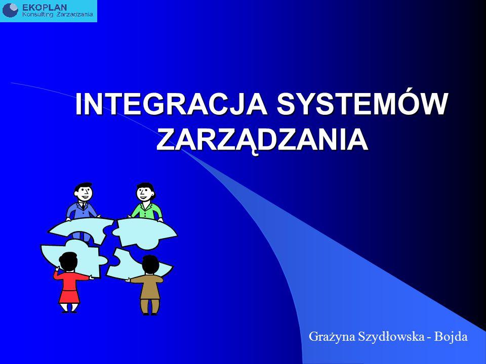 INTEGRACJA SYSTEMÓW ZARZĄDZANIA Grażyna Szydłowska - Bojda