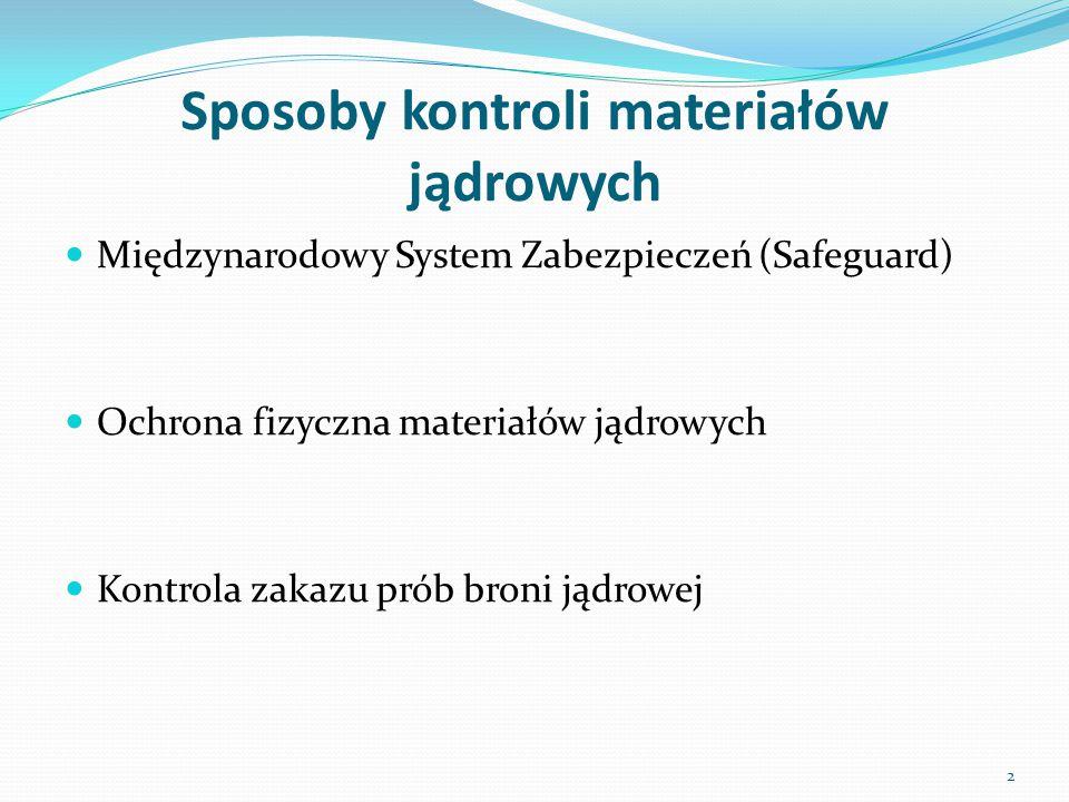 Kategoryzacja materiałów jądrowych stosowana w systemie ochrony fizycznej Kategoria II 1.
