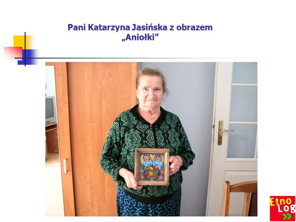 """Pani Katarzyna Jasińska z obrazem """"Aniołki"""""""