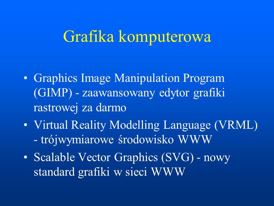 Graphics Image Manipulation Program (GIMP) GIMP – bezpłatny program do obróbki grafiki rastrowej w środowisku Linux i Windows Możliwości porównywalne z programami profesjonalnymi np.
