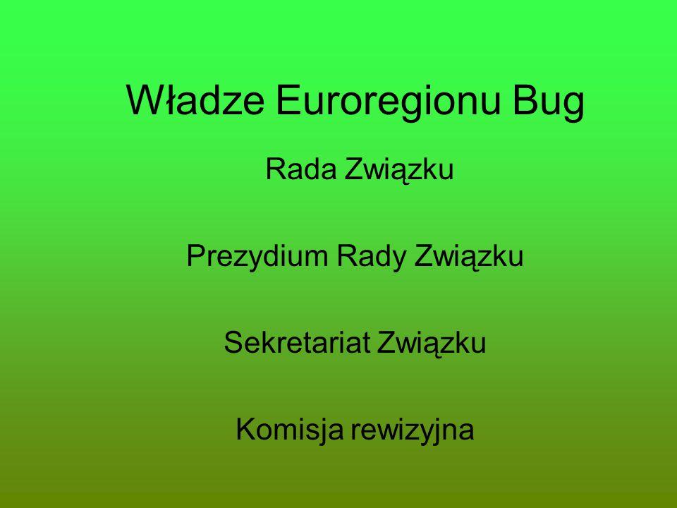 Władze Euroregionu Bug Rada Związku Prezydium Rady Związku Sekretariat Związku Komisja rewizyjna