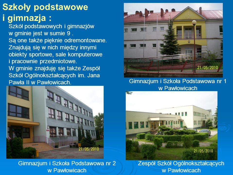Szkoły podstawowe i gimnazja : Szkół podstawowych i gimnazjów w gminie jest w sumie 9.